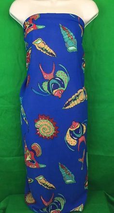 Westbound Blue Tropical Fish Beach, Pool, Sarong, Wrap, Coverup. Sarong can be worn in several different styles. View pictures for details. | eBay!