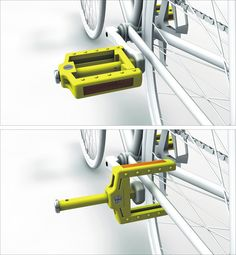 "International #Bicycle #Design Competition 2013, designers Yao Ying-Liang & Hsu Ting-Yun from SHU-TE University in Kaohsiung City, Taiwan brought ""Anti-theft #Pedal"" concept,"