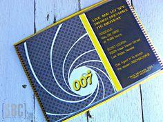007 Secret Agent Spy Invitation...Set of 10 by southernbellescharm
