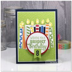 Bright Birthday, handmade card by Jen Shults