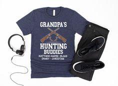 Grandpa Custom Hunting Shirt/ Personalized Grandpa Gift/ | Etsy Hunting Gifts, Deer Hunting, Custom Fishing Shirts, Grandpa Gifts, Online Gifts, Retail Therapy, Grandchildren, Grandkids, Unisex
