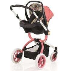 Cosatto Ooba 3 in 1 Pram & Hold Car Seat Travel System - Kimono (Pink)