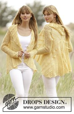 """Oasis  jacket worked in a circle with lace and fan pattern"""" FREE crochet pattern"""
