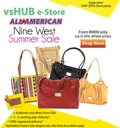 5% discount off Nine West products on our e-Store till 30 Jun