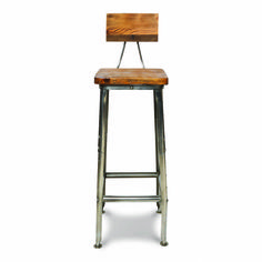 This ultra stylish Bapoto stool is made from mango wood and metal; two materials that work beautifully together.This practical and contemporary bar stool comes with a wooden back and seat which is made from sustainable reclaimed mango wood. The legs are made from a bushed metal. These stools look great at a breakfast bar in a kitchen, creating a stylish but rustic look. Wood items contain natural variations in colour and finish and due to the reclaimed nature will also contain aspects of…