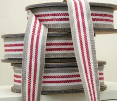 red french stripe ribbon from East of India
