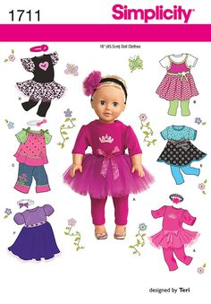 american girl doll dance clothes patterns | ... to make a tutu, leggings, tops and dresses to fit American Girl dolls
