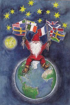 Kuva albumissa CARINA STÅHLBERG - Google Kuvat Google, Santa, Photo And Video, Christmas, Painting, Xmas, Painting Art, Navidad, Paintings