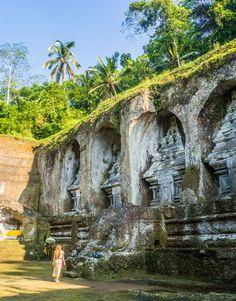 Pura Gunung Kawi, an 11th century temple in Tampaksiring, Ubud, Bali #sunshineseeker