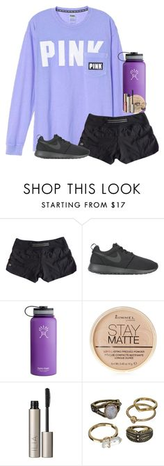 """""""QOTD: what couple do you ship on Gilmore girls?"""" by ab1525 ❤ liked on Polyvore featuring lululemon, NIKE, Hydro Flask, Rimmel, Ilia, Mudd, tarte and teamjess"""