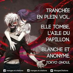 Trench in full flight. She falls, the wing of the butterfly. White and anonymous. Advertisement Advertisement Trench in full flight. She falls, the wing of the butterfly. White and anonymous. Tokyo Ghoul Cosplay, Manga Anime, Anime Eyes, Otaku Anime, Plus Belle Citation, French Expressions, Manga Quotes, Father Quotes, Anime Films