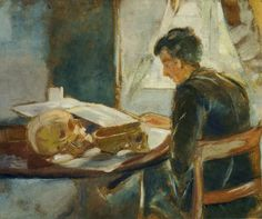 Andreas Munch Studying Anatomy.1886 by Edvard Munch