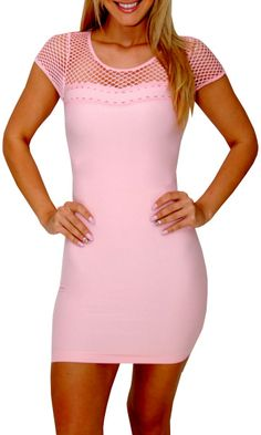 Ogling Love (Light Pink)-Great Glam is the web's best online shop for trendy club styles, fashionable party dresses and dress wear, super hot clubbing clothing, stylish going out shirts, partying clothes, super cute and sexy club fashions, halter and tube