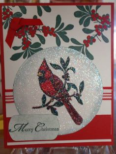 A Crystal Cardinal by PeggyWrabetz - Cards and Paper Crafts at Splitcoaststampers