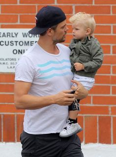 Josh Duhamel takes his son Axl to breakfast on May 17, 2015