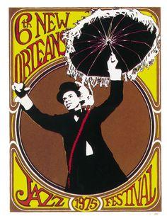 no jazz fest poster, 1975.