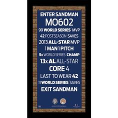 Mariano Rivera Retirement Subway Sign with MLB Authentic Game Used Dirt Framed 95 inches x 19 inches ** Visit the image link more details. (Note:Amazon affiliate link)