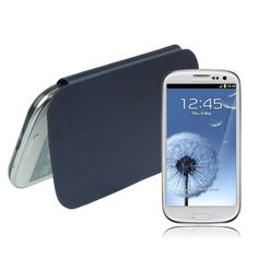 High Quality Version (Front   Back) Replacement Battery Cover for Samsung Galaxy SIII / i9300, Navy Blue