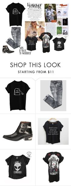 """""""My favorite t-shirt"""" by ena07-dlxx ❤ liked on Polyvore featuring Toga, Sunichi, Philipp Plein and Gucci"""