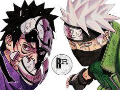 Kakashi e Obito Kakashi And Obito, Naruto Shippuden Sasuke, Madara Uchiha, Naruto Shippuden Anime, Gaara, Anime Naruto, Anime Echii, Naruto Art, Anime Guys