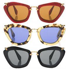 Miu Miu. Yes, I would love cat eye glasses!