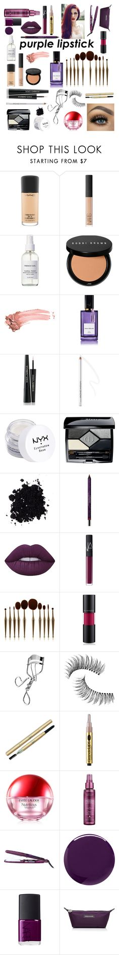 """""""Viola."""" by thetravelbuff ❤ liked on Polyvore featuring beauty, MAC Cosmetics, NARS Cosmetics, French Girl, Bobbi Brown Cosmetics, Elizabeth Arden, Diana Vreeland, Dolce&Gabbana, NYX and Christian Dior"""