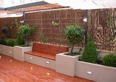 57 Gorgeous Garden Fence Design Ideas - New ideas Backyard Seating, Backyard Patio Designs, Garden Seating, Backyard Landscaping, Backyard Ideas, Desert Backyard, Terrace Garden, Garden Planters, Terrace Design