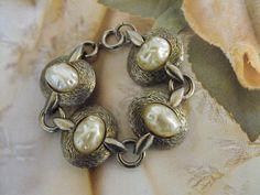 VINTAGE Bracelet Chunky Statement Pearls by FancySchmancyJewels, $18.50