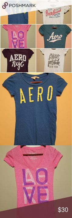 Aeropostale ps BUNDLE t-shirts 6 Aeropostale PS t shirts gently loved with lots of life left in them. Each one is listed separately with measurments. Aeropostale Shirts & Tops Tees - Short Sleeve