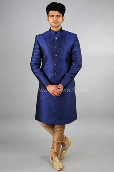 Beautiful Blue Color Sherwani  #designer #exclusive #trendy #sherwani #wedding #collection #embroidered