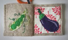 Quiet book - Fruits and vegetables sensory fabric book for baby - Made to order. $40.00, via Etsy.