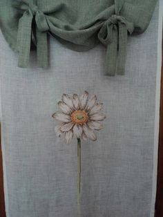 tenda in lino con margherita