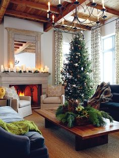 Inviting Holiday Living Room | photo Michael Graydon | designer Barbara Purdy | See more festive rooms and vote for your favourite space for a chance to win $ 500 from Air Wick! #contest http://houseandhome.com/design/vote-your-favourite-festive-moment