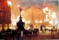 Piccadilly Circus de George Hyde Pownall (1876-1932)