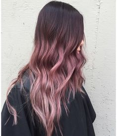 Are you looking for brown blonde peach blue purple pastel ombre hair color hairstyles? See our collection full of brown blonde peach blue purple pastel ombre hair color hairstyles and get inspired! Pink Ombre Hair, Brown Ombre Hair, Brown Blonde, Ombre Color, Brown Pink Ombre, Pinkish Brown Hair, Ombre Rose Gold Hair, Gold Colour, Ombre Hair Lavender