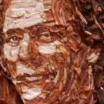 Kevin Bacon made out of Bacon!