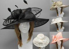 Feathers Kentucky Hat Fashion Derby Church Wide Brim Dress Cocktail Wedding
