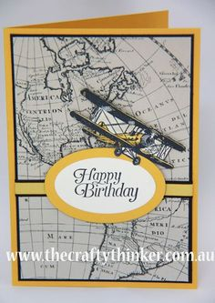 Stampin Up, The Crafty Thinker, Sky Is The Limit, Sale-A-Bration, Masculine card
