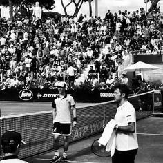 Stan the man  @stanwawrinka85 comunque vada a finire insegna il tennis a tutti.  #tennis #internazionalibnl #stanwawrinka #blackandwhite #bw