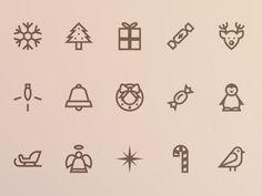 32个圣诞图标AI源文件   蓝调设计