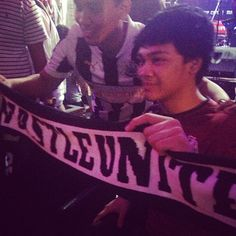 Mikha Angelo with newcastle United