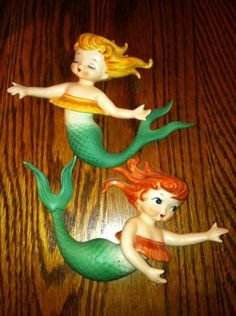 "Lefton ""Hula"" mermaids"