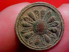 Revolutionary War Dug Button w/Green Patina; Circa 1700's