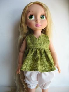 """Clothes for Disney Princess Animators Toddler  Outfit~16"""" Doll Top and Pants"""