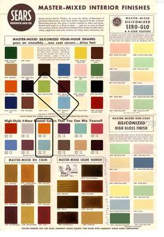 Midcentury Modern colors