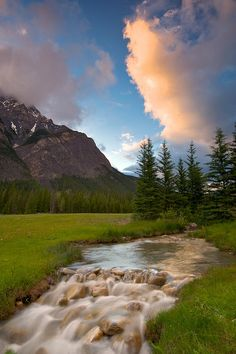 Cascade Mountain Sunset by Michael James Imagery ~ Anthracite, Alberta, CA*