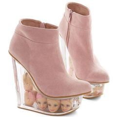 The Stride Bright, Stride Far Wedge is Made for Barbie Lovers #unique trendhunter.com