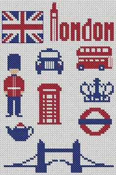 London Cross Stitch or Hama Beads Pattern