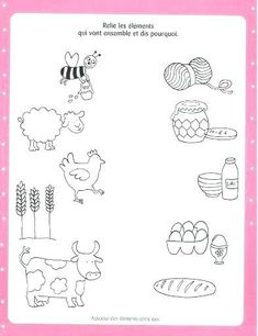 Crafts,Actvities and Worksheets for Preschool,Toddler and Kindergarten.Lots of worksheets and coloring pages. Animal Activities, Preschool Learning Activities, Kindergarten Worksheets, Worksheets For Kids, Kids Learning, Farm Animals Preschool, Farm Animal Crafts, Farm Lessons, Animal Worksheets