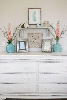 Master Bedroom Oasis aqua & coral master bedroom makeover | master bedroom, oasis and aqua